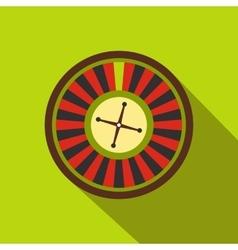 Casino symbol roulette flat icon vector image vector image