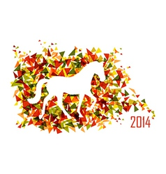 Chinese new year of the Horse shape triangle EPS10 vector image