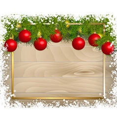 Christmas decoration background template vector