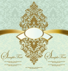 floral vintage invitation card vector image