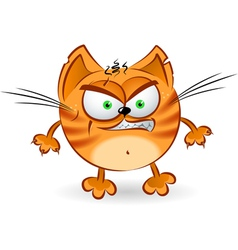 The angry orange cartoon cat vector image vector image