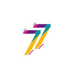 77 years anniversary celebration template design vector