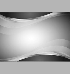 Abstract geometric wave black and white vector