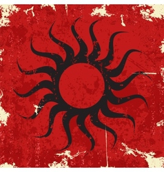 Abstract grunge background with sun vector