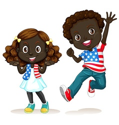 African American boy and girl vector image