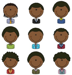 African-American male avatar vector
