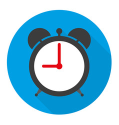 alarm clock icon in flat vector image