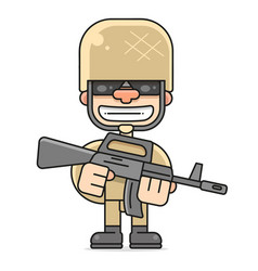 An american soldier military serviceman vector
