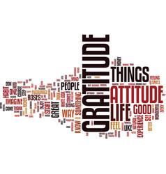 Attitude gratitude text background word cloud vector