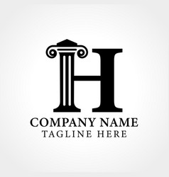 Attorney law letter h logo with creative modern vector