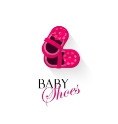 Baby shoes logo isolated on vector image