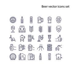 basic element beer icons set68x68 pixel vector image
