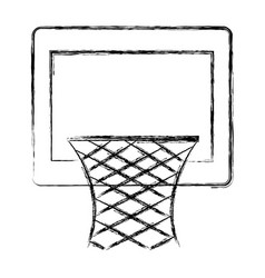 basketball basket isolated icon vector image