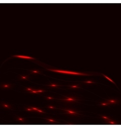 Black background with red glowinf lines vector image