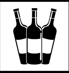 Bottles of wine icon stock vector