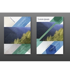 Brochure design template set leaflet cover vector image