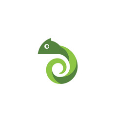 chameleon icon silhouette vector image
