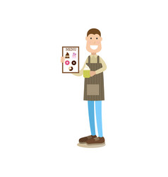 coffee house people in flat vector image