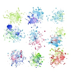 Colorful paint splashes on white plus EPS10 vector image