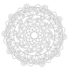 Coloring Rope Decoration Ornament vector