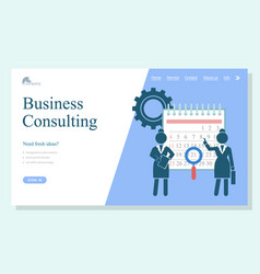 concept landing page website business vector image