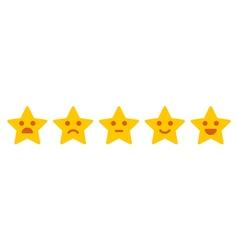 Customer feedback iconic satisfaction level vector
