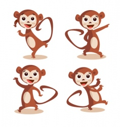dancing monkey vector image