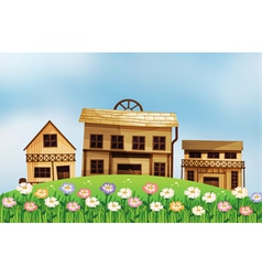 Different form of houses vector image