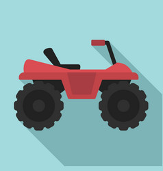 Dirtbike icon flat style vector