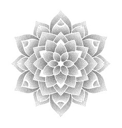 Dotted flower symbol vector