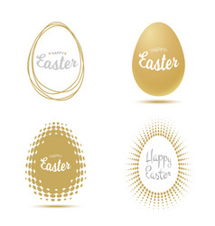 easter for greetings cards lettering on egg frame vector image