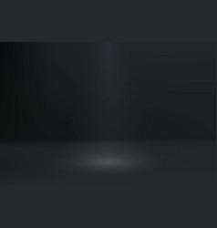 empty dark color studio room with spotlight vector image