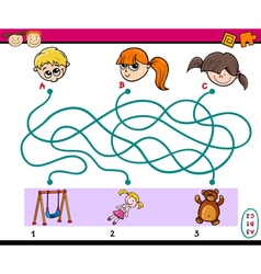 Find path task for children vector