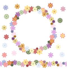 floral seamless flower brush floral design vector image