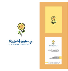 flower creative logo and business card vertical vector image