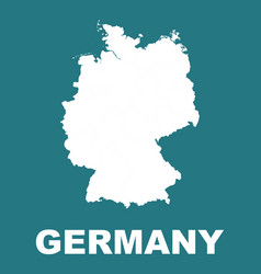 germany map flat vector image