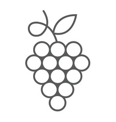 grapes thin line icon fruit and plant vector image