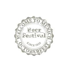 Grunge Emblem Oktoberfest vector image