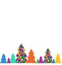 happy christmas postcard vector image
