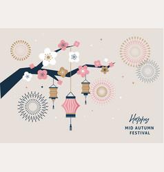 Happy mid autumn festival mid autumn vector