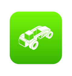 heavy load truck icon green vector image