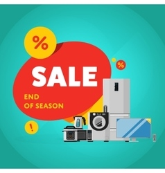 Household appliances discount sale banner vector