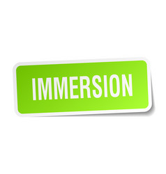Immersion square sticker on white vector