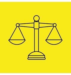 Justice system design vector