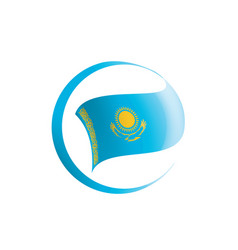 Kazakhstan flag on a white vector