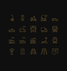 land transport icons set vector image