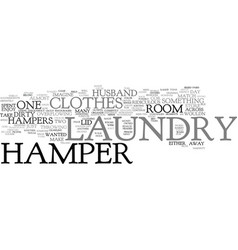 Laundry hamper text background word cloud concept vector
