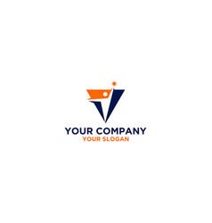 Leadership training logo design vector