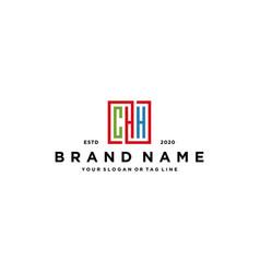 Letter chh square colorful logo design vector