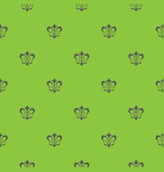 lis de fleur seamless pattern vector image